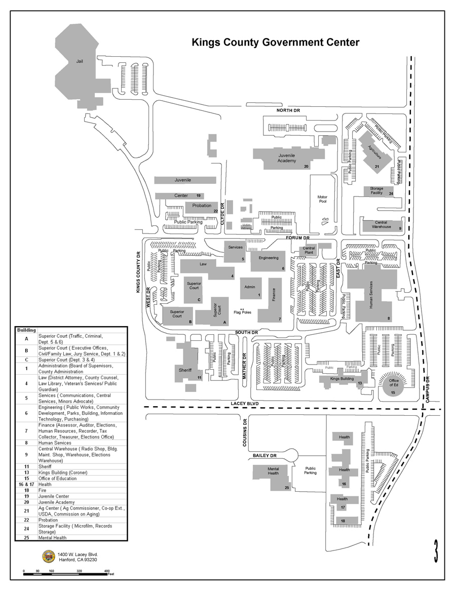 a map of Kings County Government Center
