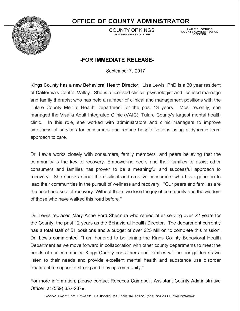 Press Release BH - Lewis