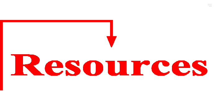 Resources with an arrow pointing at it