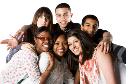 Interracial group of teens 1