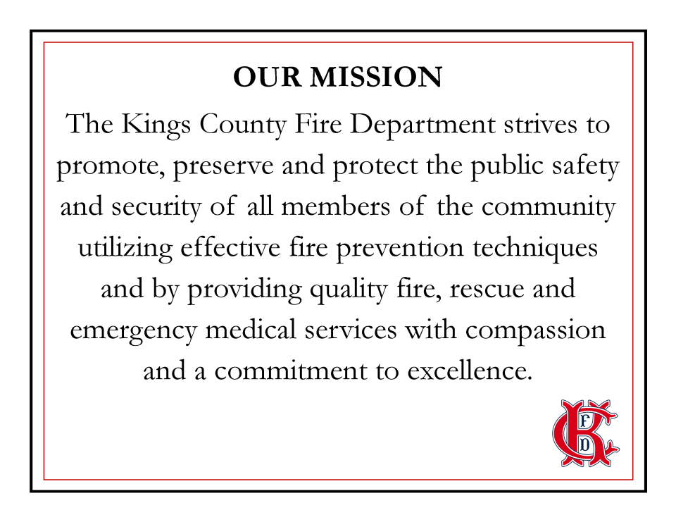 Kings County Fire Department | Kings County
