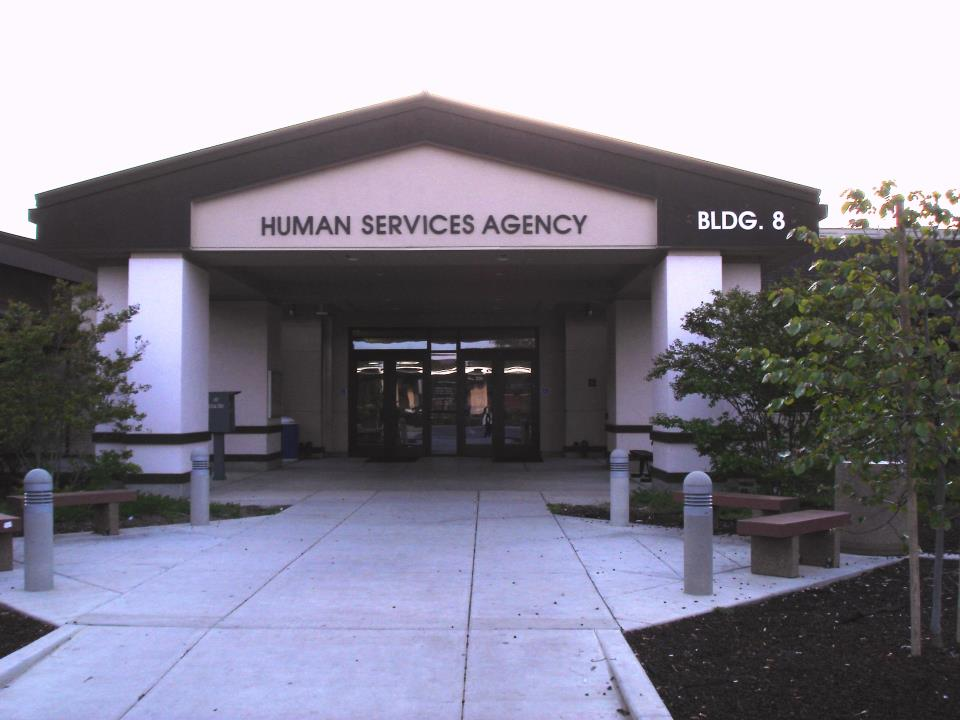 Front view of Human Services Agency located in Hanford