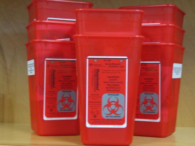 Bio hazard  medical waste buckets